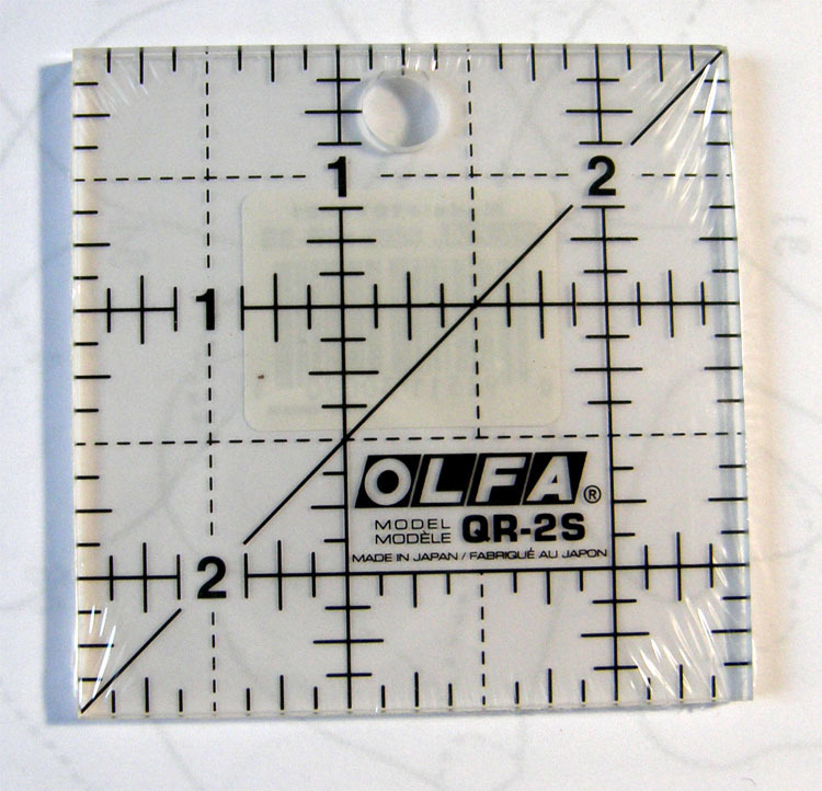 Mini square ruler 2 1/2 ""