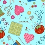 Sewing themed fabrics