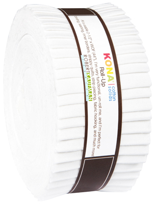 Kona Cotton strip roll white