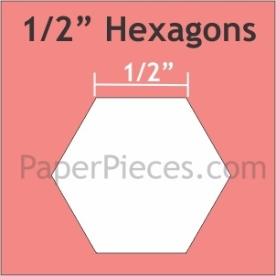 Hexagon 1/2  ""