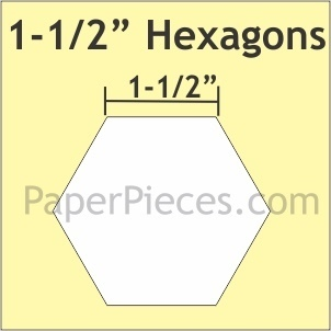 Hexagon 1 1/2 ""