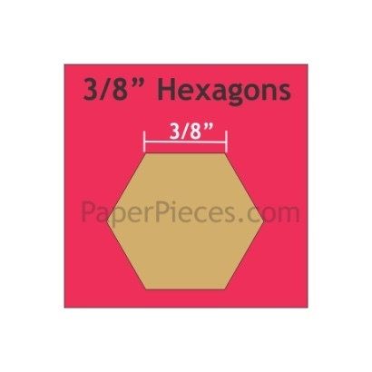 Hexagon 3/8 ""