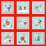 Jolly Santa labels