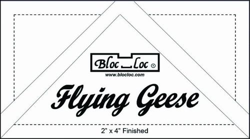 Flying geese ruler 2* 4 ""