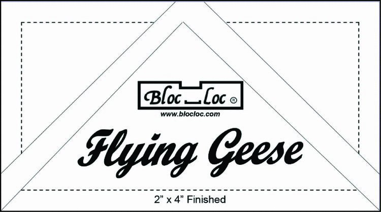 Flying geese ruler set
