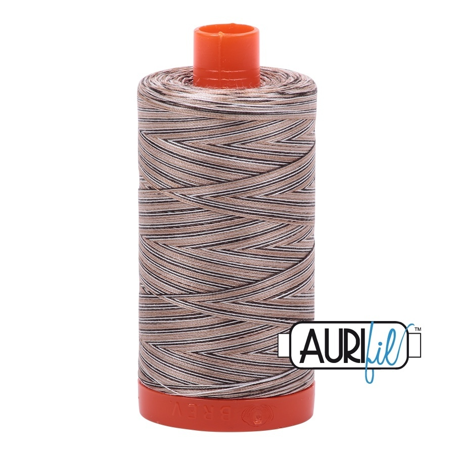 Aurifil variegated Nutty Nougat