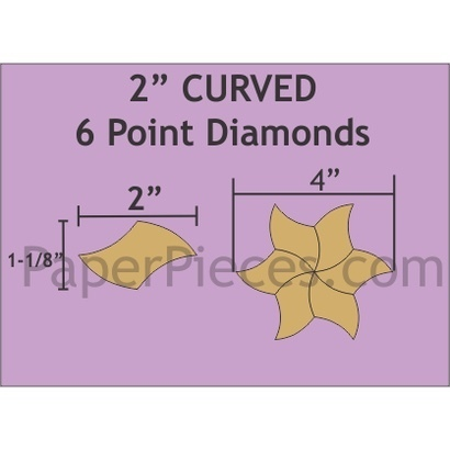 Curved Diamond 2 ""