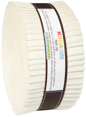 Kona Cotton strip roll snow