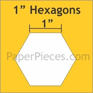 "Hexagon 1 "" bulk 600"