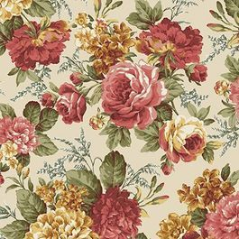 Roses - printed twill