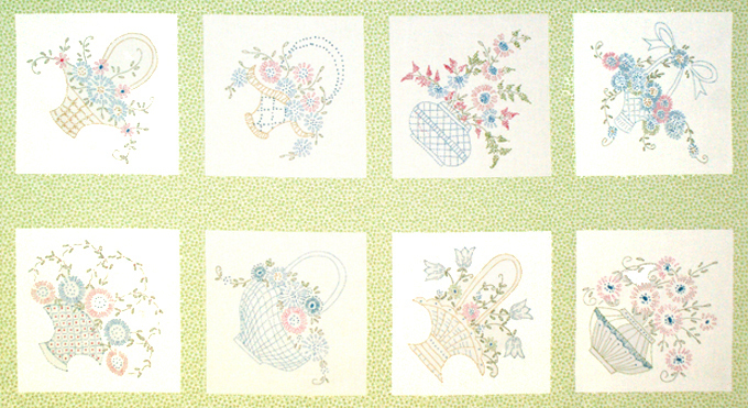 FLower baskets panel