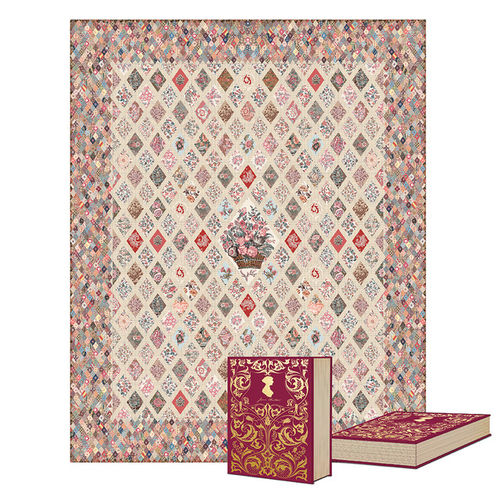 Jane Austen at home -quilt kit with backing